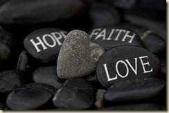 pebble with message