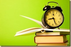 book and clock