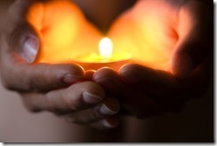 hand candle heart