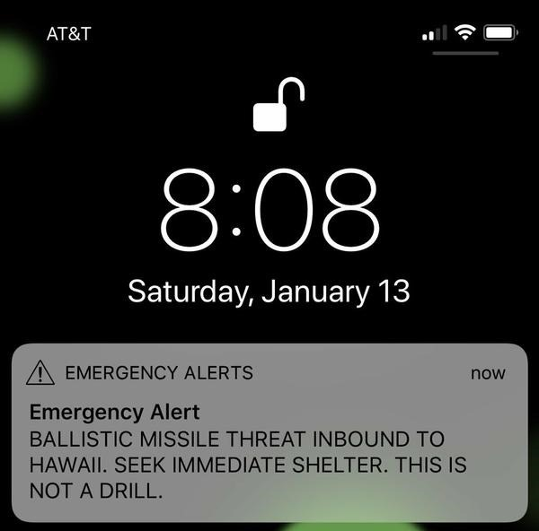 What a fear based world looks like – incoming missile alert